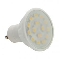 Výkoná Led žárovka Kanlux LED15 SMD C 5W 370lm GU10-WW/F mat. teplá bílá  - AKCE