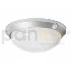 PANLUX OLGA S přisazené stropní a nástěnné kruhové svítidlo se senzorem 60W, stříbrná Panlux (OS-60/CH)