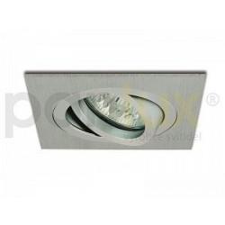 Bodové svítidlo Panlux VÝKLOPNÝ PODHLED HRANATÝ, stříbrný (aluminium) (HVD-HR50/AL)