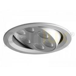 Bodové svítidlo Panlux VÝKLOPNÝ PODHLED KULATÝ 6LED, stříbrná (aluminium) - studená bílá (KVL-6S/AL)
