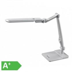 Moderní stmívatelná kancelářská lampička ECOLITE MATRIX LBL1207-BI - LED stolní lampa vč. šroubu, 32xSMD5730, 10W, 600lm, bílá