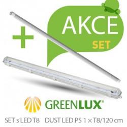 Akční set prachotěsné svítidlo Greenlux SET DUST DAISY LED PS 1xT8 120 IP65 (GXWP267)