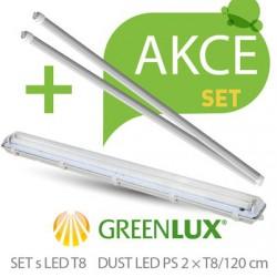 Akční set prachotěsné svítidlo Greenlux SET DUST DAISY LED PS  2xT8 120 IP65 (GXWP264)
