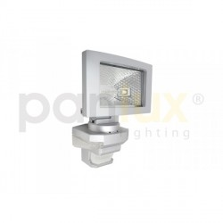 AKCE Panlux VANA S venkovní reflektorové svítidlo se senzoremem a LED přisvícením, stříbrná - teplá bílá