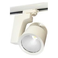 LED reflektor na lištu AURA 40W, bílá,  4100lm, teplá bílá 3000K (884159)