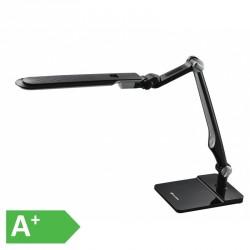AKCE Moderní stmívatelná kancelářská lampička MATRIX LBL1207-CR - LED stolní lampa vč. šroubu, 32xSMD5730, 10W, 600lm, černá