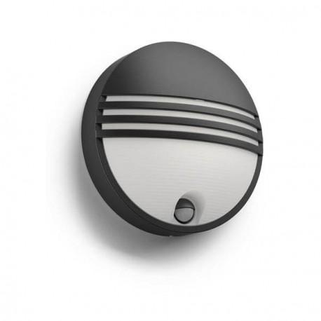 PHILIPS venkovní LED svítidlo Yarrow se senzorem černá (17297/30/16)
