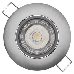 EMOS LED bodové svítidlo Exclusive stříbrné, 5W teplá bílá