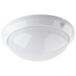 Kruhové stropní svítidlo ECOLITE W121 FLAVIA W121-BI - světlo s čidlem, bílé, IP44, max 60W