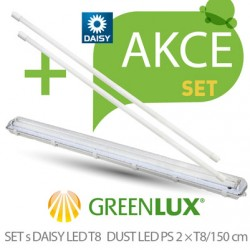 Led set Greenlux SET DUST DAISY LED PS 2xT8 150 (GXWP273)