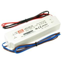 LED DRIVER Meanwell LPV-35-12V  IP67