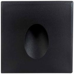 Greenlux nástěnné vestavné svítidlo LED DECENTLY S1 Black 3W NW (GXLL068)
