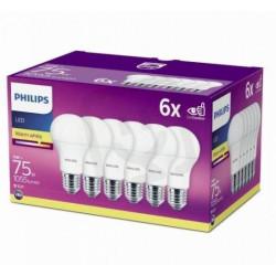 Philips LED žárovka sada 6ks 11W E27 1055lm A60 2700K