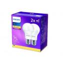 Philips LED žárovka sada 2ks 10W E27 1055lm A60 4000K