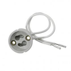 AKCE - Keramická patice Kanlux HLDR GU10(GZ10) 230V s přívodním kabelem 230V  (00402)