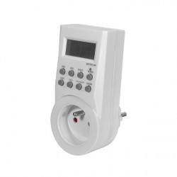 Digitální časový spínač Kanlux CYBER TM-6 zásuvkový (01016)